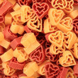Pasta hearts as valentine texture — Stock Photo