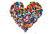 Heart from color plastic caps  — Stock Photo