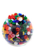 Color plastic caps (from PET) — Stock Photo