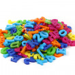 Color plastic letters — Stock Photo