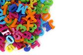 Color plastic letters  — Stockfoto