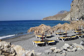 Relax place on the Greece beach  — Foto Stock