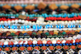 Bracelets with natural and synthetic beads  — Stock Photo