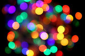 Abstract christmas color lights background — Stock Photo