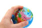 World globe in human hand  — Zdjęcie stockowe