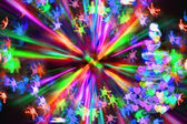Xmas tree from the christmas lights — Stock Photo
