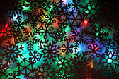 Christmas abstract background from color lights  — Stock Photo