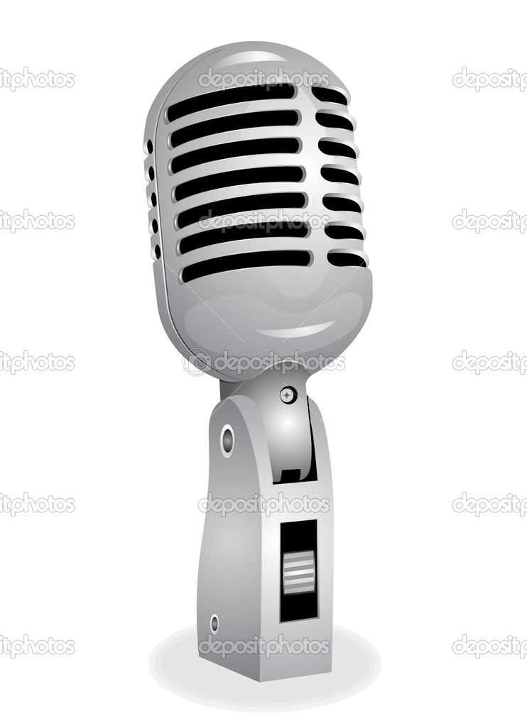 Retro microphone EPS10 — Stock Vector #12189086