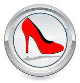 Red high heels — Stock Vector
