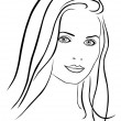 Royalty-Free Stock Vector Image: Beautiful woman face