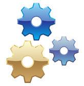 Isolated Vector Gears — Stock Vector