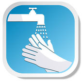 Wash hands — Stock Vector