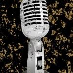 Vintage microphone — Stock Vector