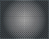 Metal background with holes — Stock Vector