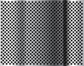 Kovové pozadí s otvory — Stock vektor