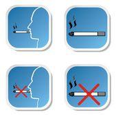 Smoking and no smoking sign — Stock Vector
