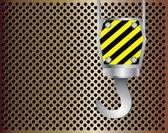 Crane hook metal background — Stock Vector