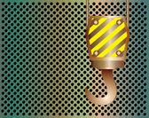 Gru gancio metallico sfondo — Vettoriale Stock