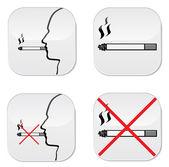 No se permite fumar — Vector de stock