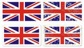Vector grunge styled flag of great britain — Stock Vector