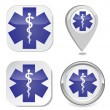 Stock Vector: Medical symbol of the Emergency