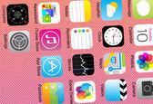 Closeup of application icons — Stock Vector