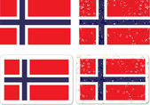 Grunge-norwegen-flagge. — Stockvektor