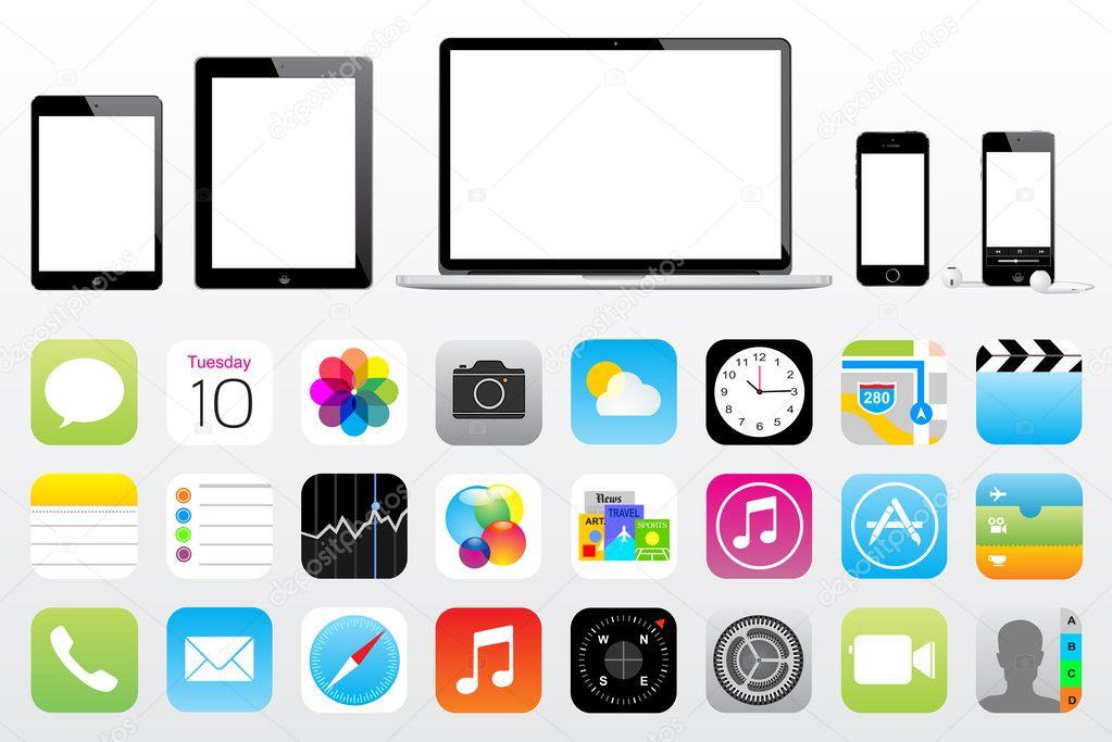 Apple ipad iphone ipod mac значок - Стоковий вектор leonardo255 #32702447