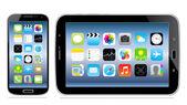 Tablet e celular com o ícone na tela — Vetorial Stock