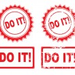 DO IT Rubber Stamp — Stock Vector