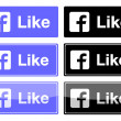 Facebook like button — Stock Vector