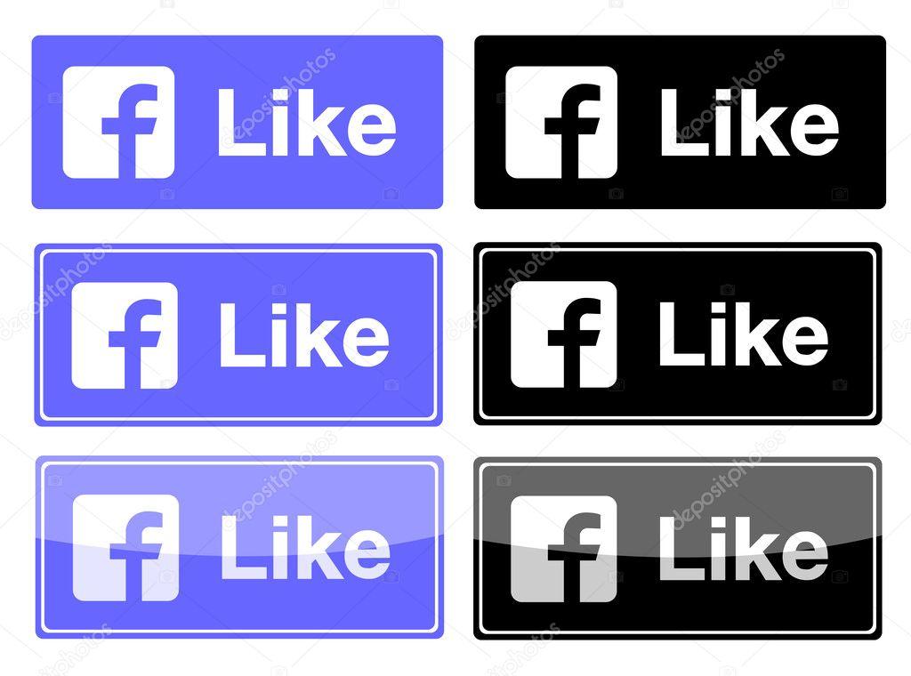 Facebook Like Button Download Vector New Facebook Like Button Vector Illustration Eps 10 Vector by Leonardo255