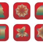Merry christmas icon — Stock Vector #35337811