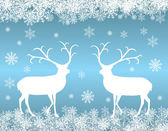 Reindeer background — Vector de stock
