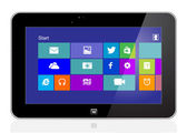 Tablet with windows 8.1 — Vector de stock