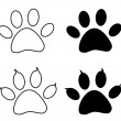 Stock Vector: Vector - Black paw print