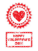 Valentines day stamp — Vecteur