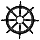 Boat steering wheel — Stock Vector