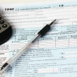 Stock Photo: IRS Federal Income Tax Forms
