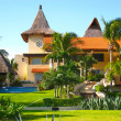 Stock Photo: Mansion in Mexico Tropical Resort Home