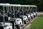 Golf Carts in a Row at a Country Club — Stock Photo