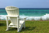 Adirondack Beach Chair with Ocean View — Stock Photo