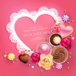Royalty-Free Stock Immagine Vettoriale: Valentine Day lacy frame for your text