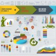 Colorful Infographic Elements. Vector illustration — Stok Vektör