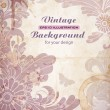 Royalty-Free Stock Vektorgrafik: Grunge background with floral pattern