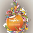 Royalty-Free Stock Vector Image: Colored graffiti styled round frame for text