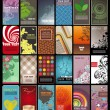 Royalty-Free Stock  : Collection of colored vertical business cards templates in various styles. EPS10