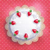 Big white wedding cake — Stock Vector
