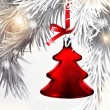 Christmas tree decoration — Vettoriali Stock