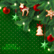 Christmas vintage grunge green background — Imagens vectoriais em stock